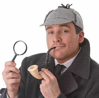 Il Detective Sherlock Holmes Cappello Deerstalker Cappello Pipe Costume Vestito Nuovo-mostra Il Titolo Originale Materiale Selezionato