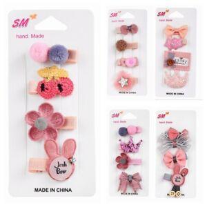 4Pcs-epingle-a-cheveux-Set-Bebe-Fille-Pince-a-Cheveux-Noeud-Fleur-Mini-Barrettes-Star-Kids-Infant