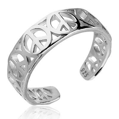 Fashion Jewelry Plata De Ley Anillo Para Pie Tamaño Ajustable Paz Goods Of Every Description Are Available Jewelry & Watches
