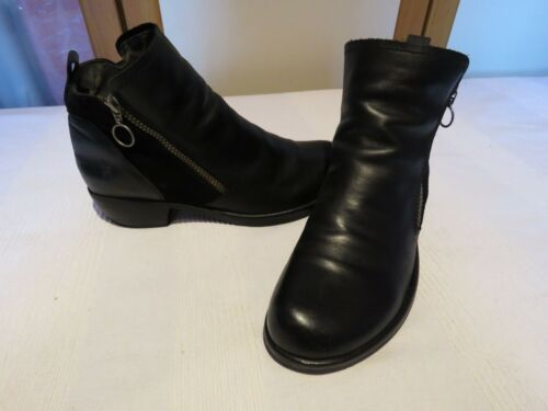 Eur Biker Ankle Meli Boots Leather 41 Fly Black Rrp Designer Uk £110 8 London nv4wgaS