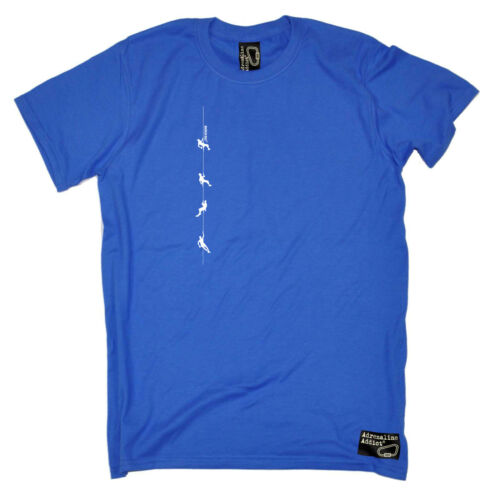 Rock Climbing T-Shirt Funny Novelty Mens tee TShirt Climbers Rope
