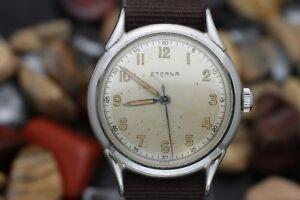C-1940-039-s-ETERNA-Hand-Wind-17-Jewel-Stainless-Steel-RADIUM-DIAL-Steel-Watch