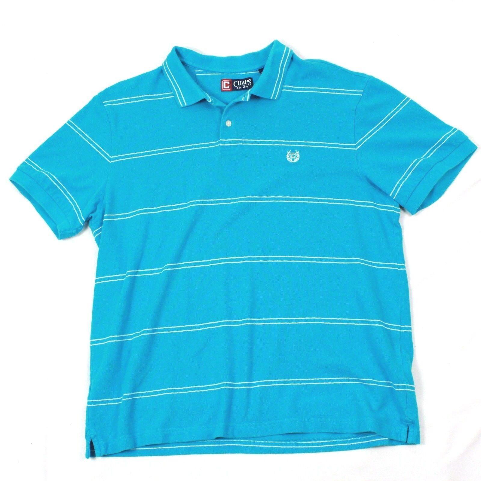 VTG Ralph Lauren Size XL Mens Polo Chaps Crest Monogram Cotton Baby bluee Tee