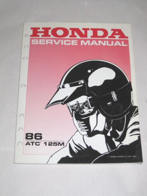 Official 1986 86 Honda Atc 125m 125 Atc125m Service Manual