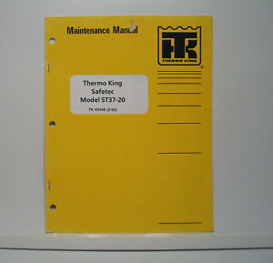 Details about Thermo King Safetec ST28-10 Constant Air Heater Repair  Maintenance Manual Parts