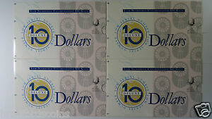 1994-Dated-Annual-10-Low-Numbered-Consecutive-Run-Of-Four-Banknote-Folders