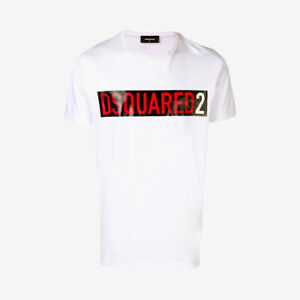 DWQT Dsquared2 Polo Tshirt White//black Canadian RED Leaf On Back CATEN