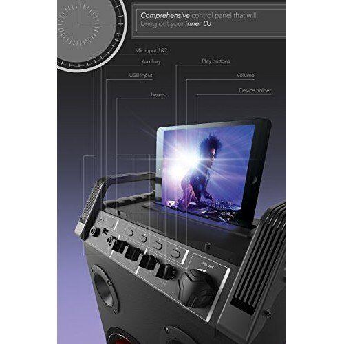 Wireless Bluetooth Led Tower Speaker Guitarmic Inputs Aux Input