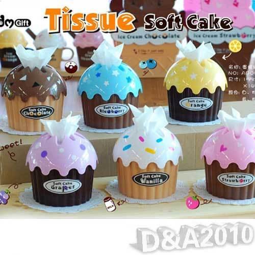Ice Cream Cake Type Car Home Towel Tissue Paper Box Holder Dispenser Cover