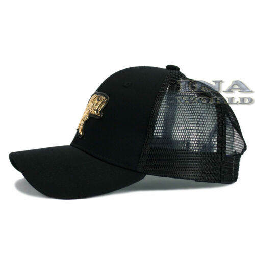 FISHING hat FISH Gold Patched Pique cap Mesh Trucker Snapback Baseball cap