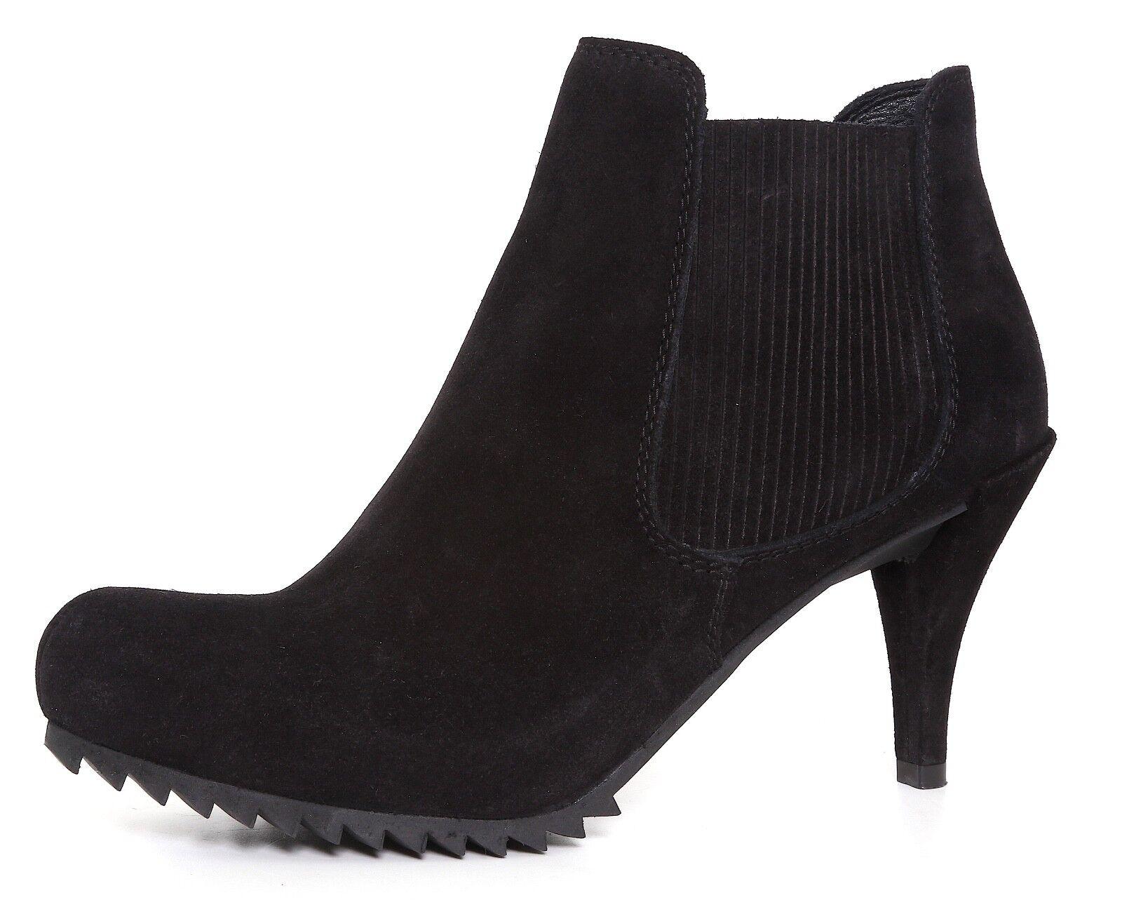 Pedro Garcia Cara Castgold High Heel Suede Suede Suede Chelsea Boots Black Sz 40.5 EUR 4029 99f8c3