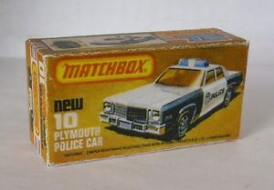 Repro-Box-Matchbox-Superfast-Nr-10-Plymouth-Police-Car
