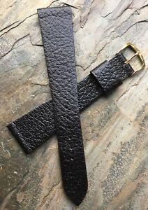 Long-22mm-dark-brown-textured-Genuine-Leather-vintage-watch-strap-1960s-70s-NOS