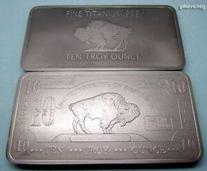 Titanbarren  10 oz Titanbarren Büffel (Titan Barren Münze Titanium Unze Unzen ...
