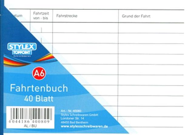 10X Fahrtenbuch A6 quer 40 Blatt Formularbuch Fahrten Fahrtenblock Formularblock