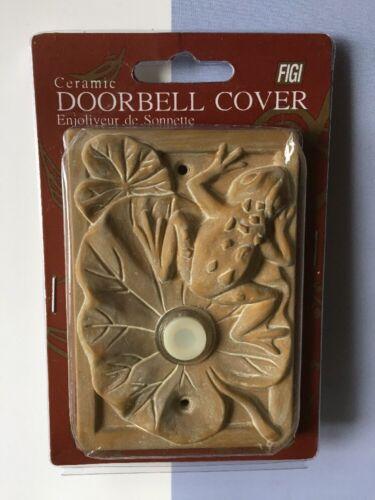 FIGI Ceramic Doorbell Cover ILLUMINATED 3D Frog D.C.-ST-111 NEW