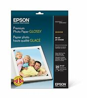 Epson Premium Photo Paper Glossy (8x10 Inches, 20 Sheets) (s041465),