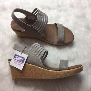 Skechers Wedge Sandals Luxe Foam Size