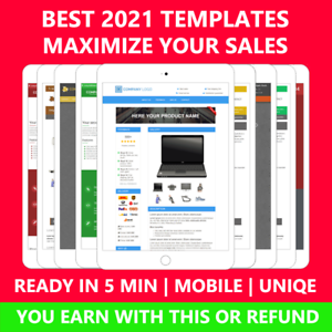 Ebay Template Listing Auction Professional Responsive mobile design html 2021
