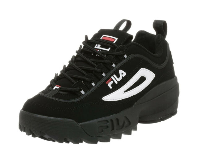 Fila Men's Disruptor II Casual Shoe FW01653 018 BlackWhiteRed