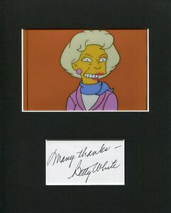 Betty-White-Golden-Girls-The-Simpsons-Rare-Signed-Autograph-Photo-Display