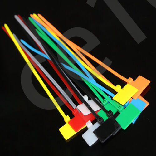 Color Nylon Plastic  Self-Locking Label Cable Tie Outer Label Tag Writable Logo
