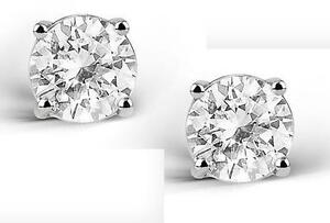 2-CARAT-WHITE-TOPAZ-ROUND-CUT-STERLING-SILVER-STUD-EARRINGS-NEW