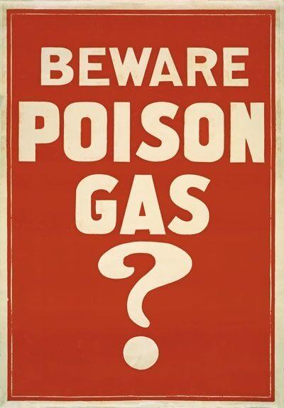 WA108 Vintage 1914 WW1 Beware Poison Gas War Poster WWI Re-Print A1/A2/A3/A4