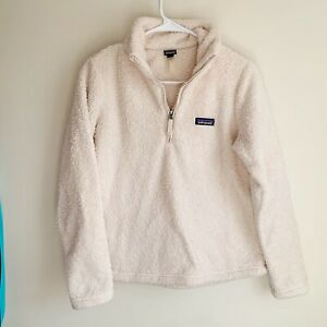 Patagonia-Beige-Los-Gatos-Sherpa-Fleece-1-4-Zip-Pullover-Sweater-Size-Small