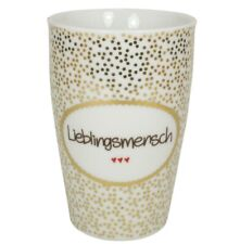 MEA LIMEA LIVING Henkelbecher 500ml STERNE LIGHT GRAU Kaffee Tasse Becher Stern