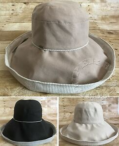 2a4a81df232 Women s Gatsby Cotton Wired Wide Brim Crushable Foldable Floppy ...
