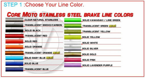 Custom Front Brake Line Kit fits 2015 2019 Yamaha YZ250FX CF0013