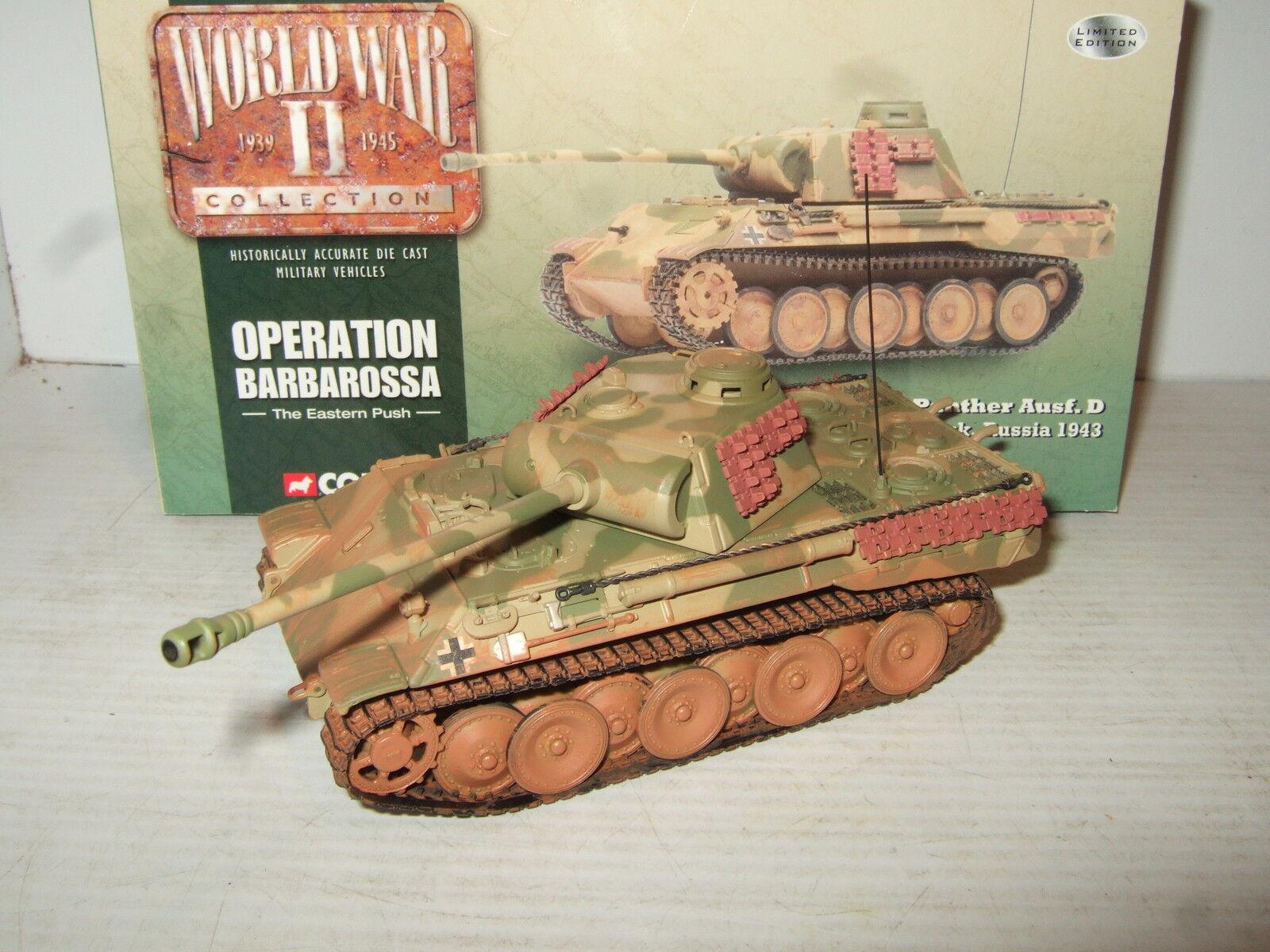Corgi CC60201 PzKpfw V Panther Ausf.D Panzer Regt, Op Barbarossa Russia in 1 50