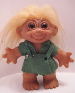 Image Is Loading Old 1961 Denmark Dam Troll Doll Lucky Rubber