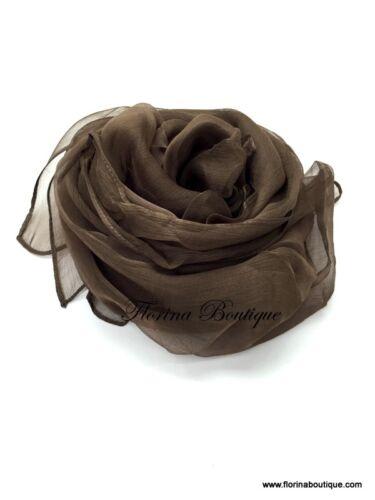 Elegant Plain Silk Hijab scarf wrap shawl evening occasion muslim wedding