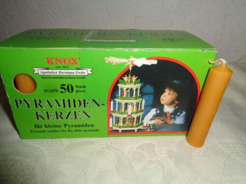 10 25 50 Knox keine  Pyramiden Kerzen  natur 14  x 70 mm Weihnachten OVP