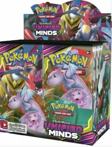 Pokemon UNIFIED MINDS Sun /& Moon Booster Box Factory Sealed 36 packs1 box