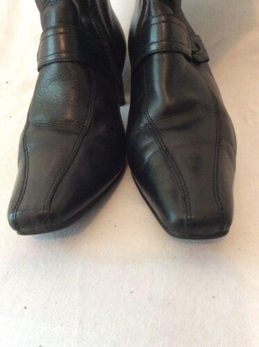 5e Botines tobillo talla de cuero negros By K de Clarks 5 UTaUqrxv