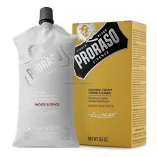 Proraso NEW Single Blade Wood & Spice Shaving Cream 275ml UK stock
