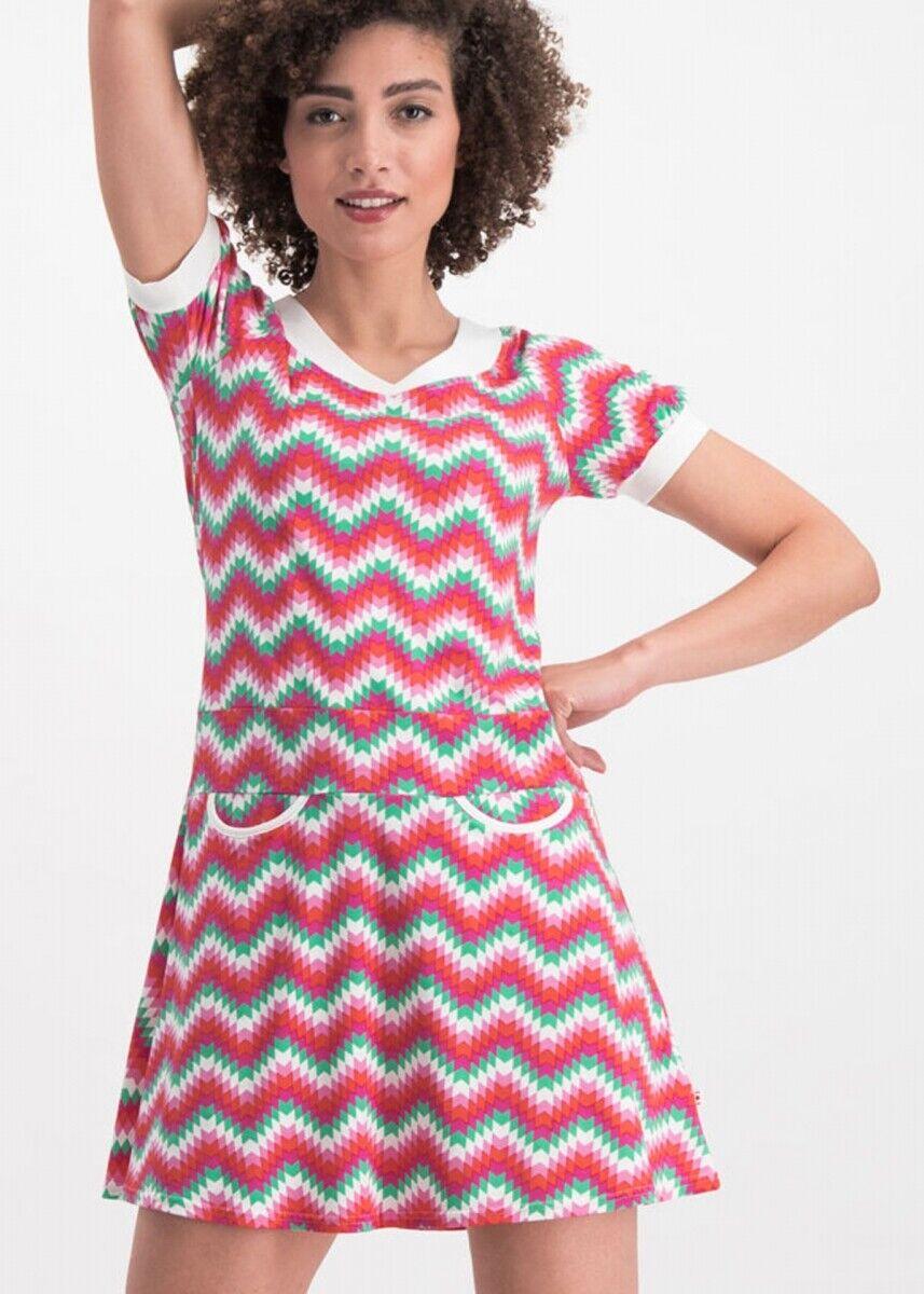 ddb077b2d95d95 Blautsgeschwister Kleid sunkissed shoulder dress hippie zig zag XL ...