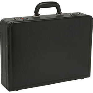 Samsonite-Bonded-Leather-Attache-Black-Non-Wheeled-Business-Case-NEW