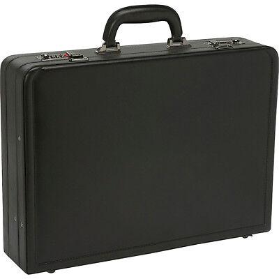 Samsonite Bonded Leather Attache - Black Non-Wheeled Business Case NEW