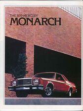 Mercury Monarch Ghia ESS 2-dr 4-dr 1979 Original USA Sales Brochure No. 79-207