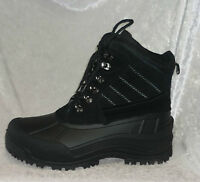 Thinsulate Mens Boots Winter Waterproof Leather Terrain Black Size 10 11