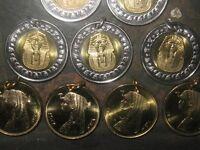 Wholesale Lot Authentic Egypt Egyptian 6 King Tut 6 Cleopatra Coin Pendants