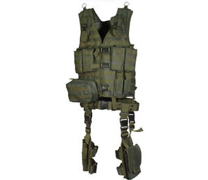 NEW-UTG-ULTIMATE-MODULAR-10-PIECE-MOLLE-WEB-VEST-KIT-RIFLE-MAG-POUCH-BELT-GREEN