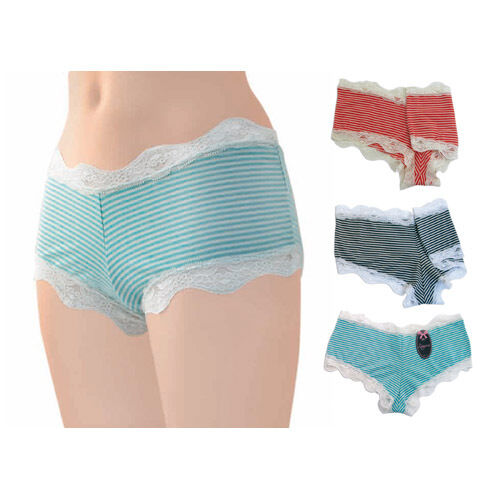 Ladies Stripey Hipster Briefs Knickers Shorts NEW Sizes 10-18 1 Brief