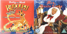 2 newspaper promo dvd MRS SANTA CLAUS + RUDOLPH island of toys christmas films