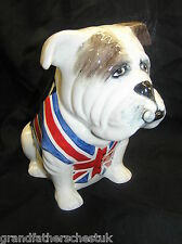 "BAIRSTOW MANOR POTTERY LARGE BULLDOG WITH CIGAR 7"" HIGH WINSTON CHURCHILL"