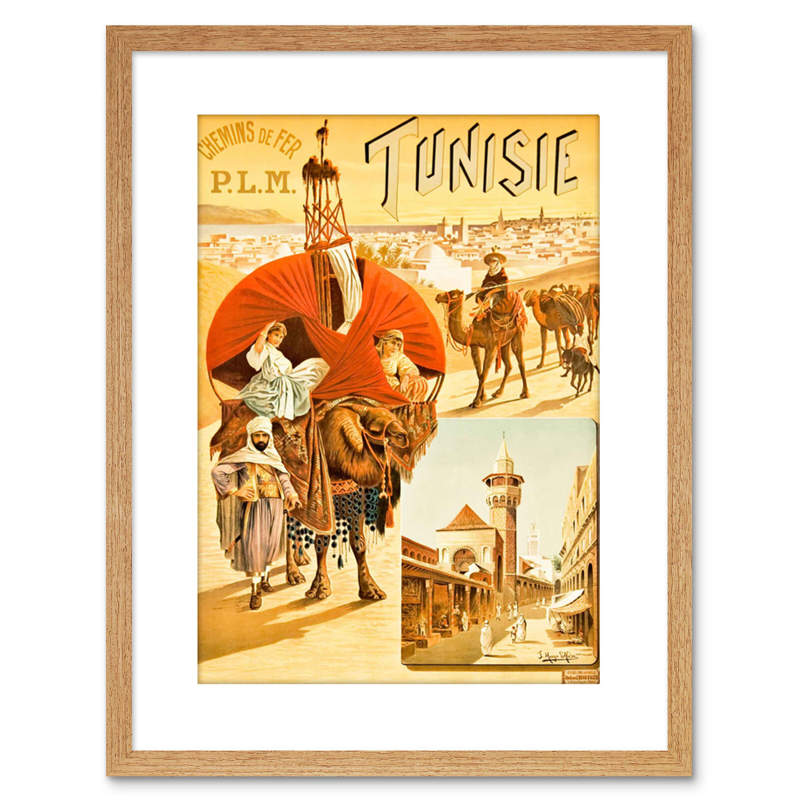 Travel Ad Vintage Milano Milan Italy Framed Print 9x7 Inch